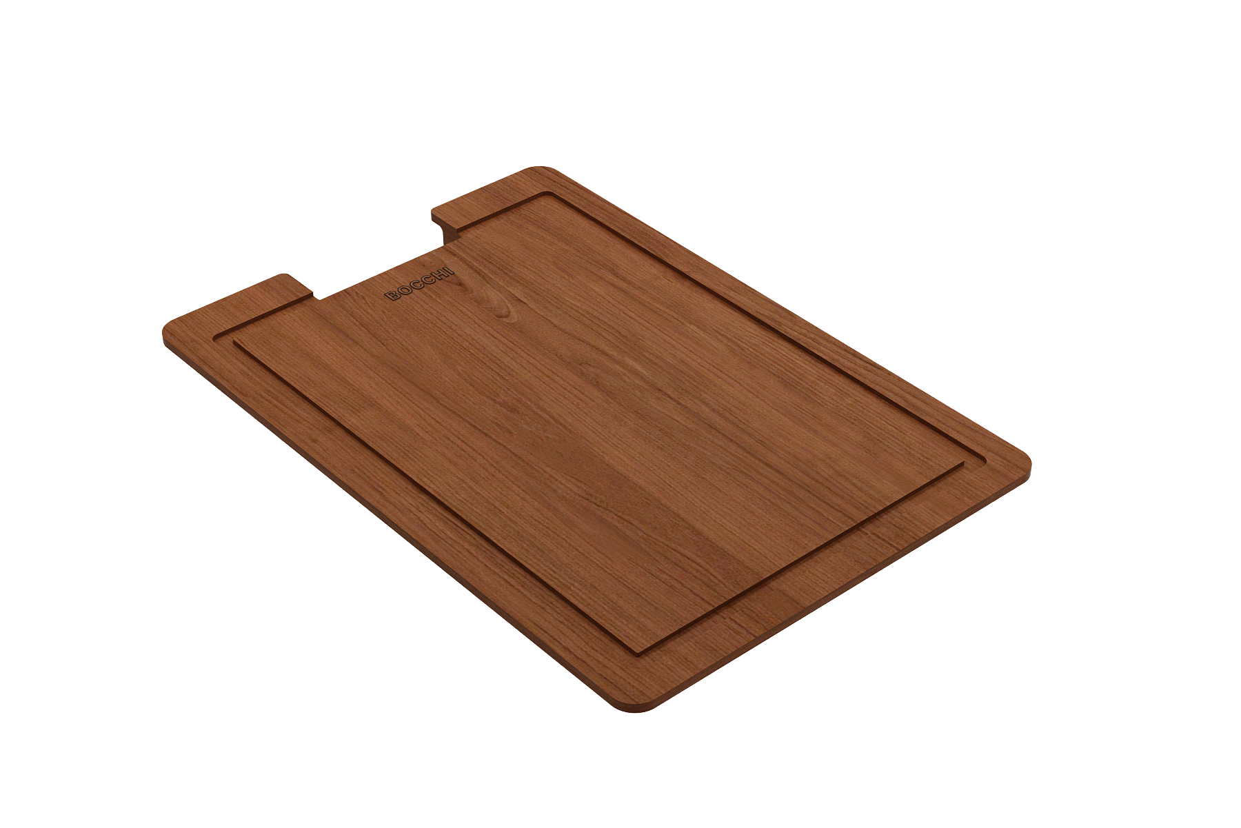 Wooden Cutting Board for BOCCHI STEP RIM fireclay kitchen sinks - Sapele Wood