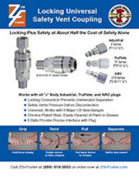 Foster Locking Universal Safety Vent Coupling